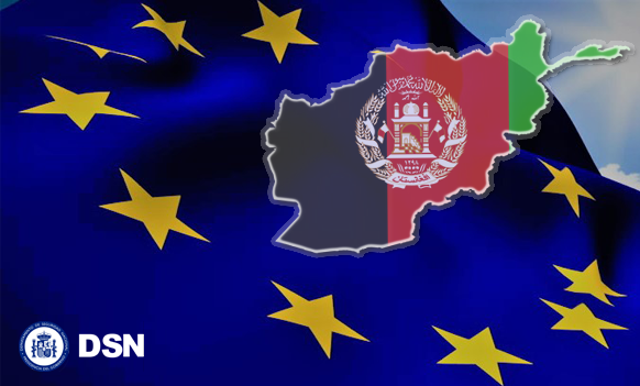 UE-Afganistán Banderas