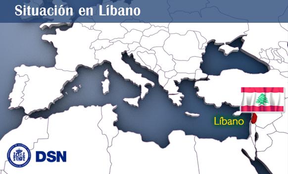 Líbano-Mapa Situación