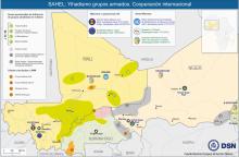 Mapa Sahel grupos armados y cooperación internacional