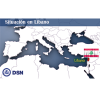 Líbano - Situación Mapa